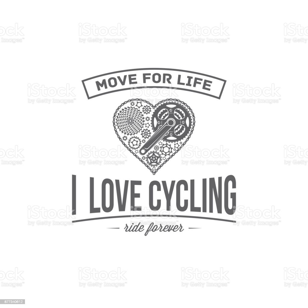 vector bicycle emblem vector art illustration
