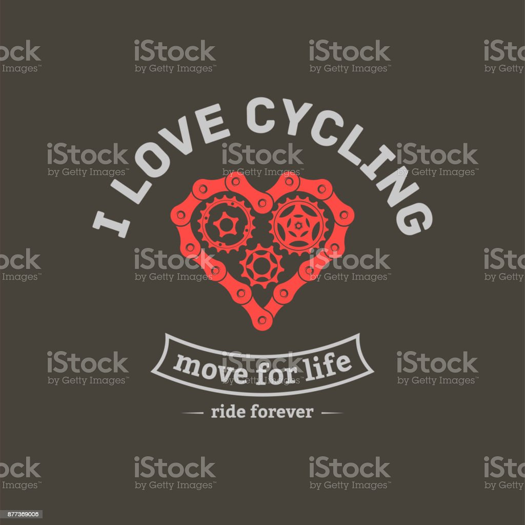 vector bicycle emblem vector art illustration