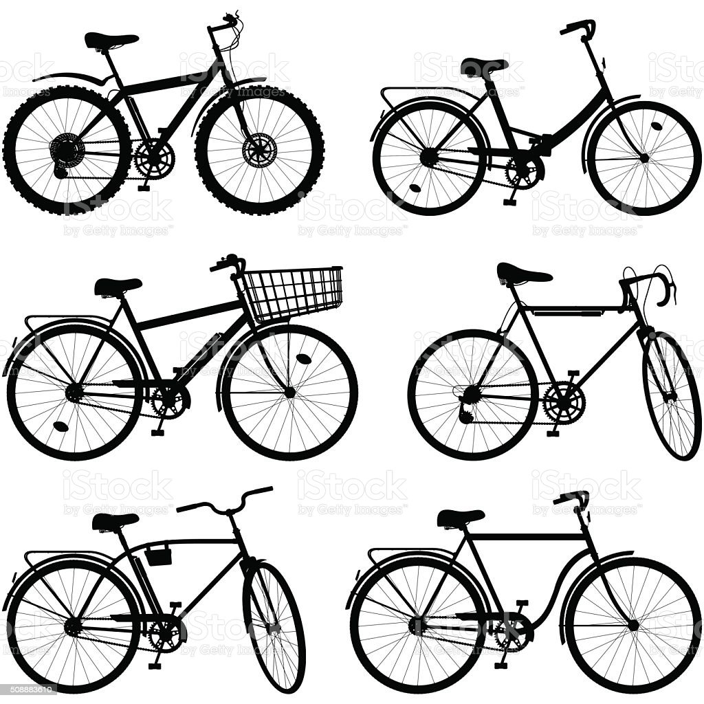 Vector Bicycle Pictogram Set 2 vector art illustration