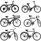 Vector Bicycle Pictogram Set 2