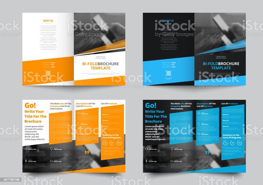 Vektor-Falttüren-Broschüre für Wirtschaft und Werbung – Vektorgrafik