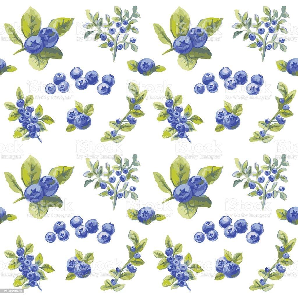 vector bilberry pattern – Vektorgrafik