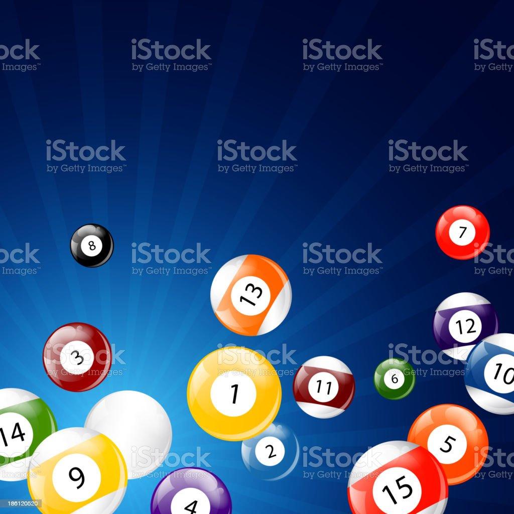 Vector Billiard Balls vector art illustration