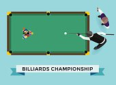 Vector billiard game champion