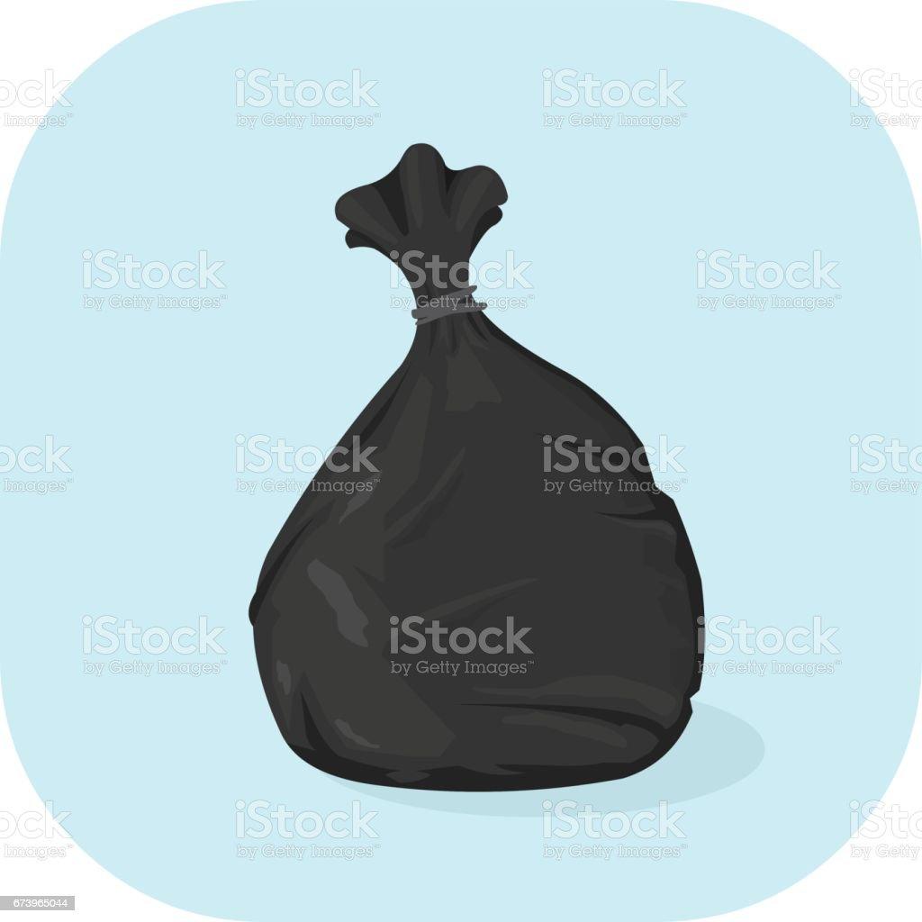 Vector Bin Bag Icon. vector art illustration