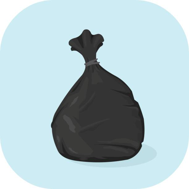 Vector Bin Bag Icon. vector art illustration