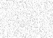 Vector binary code white seamless background. Big data and programming hacking, decryption and encryption, computer streaming black numbers 1,0. Coding or Hacker concept texture or web page fill