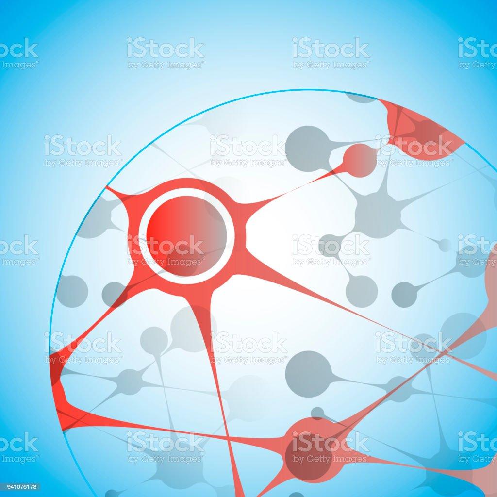 ベクトルのバイオ テクノロジーのイラスト科学設計分子dna の数式 Dna