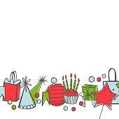 istock Vector birthday background. 1201612506
