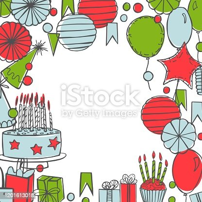 istock Vector birthday background. 1201613018