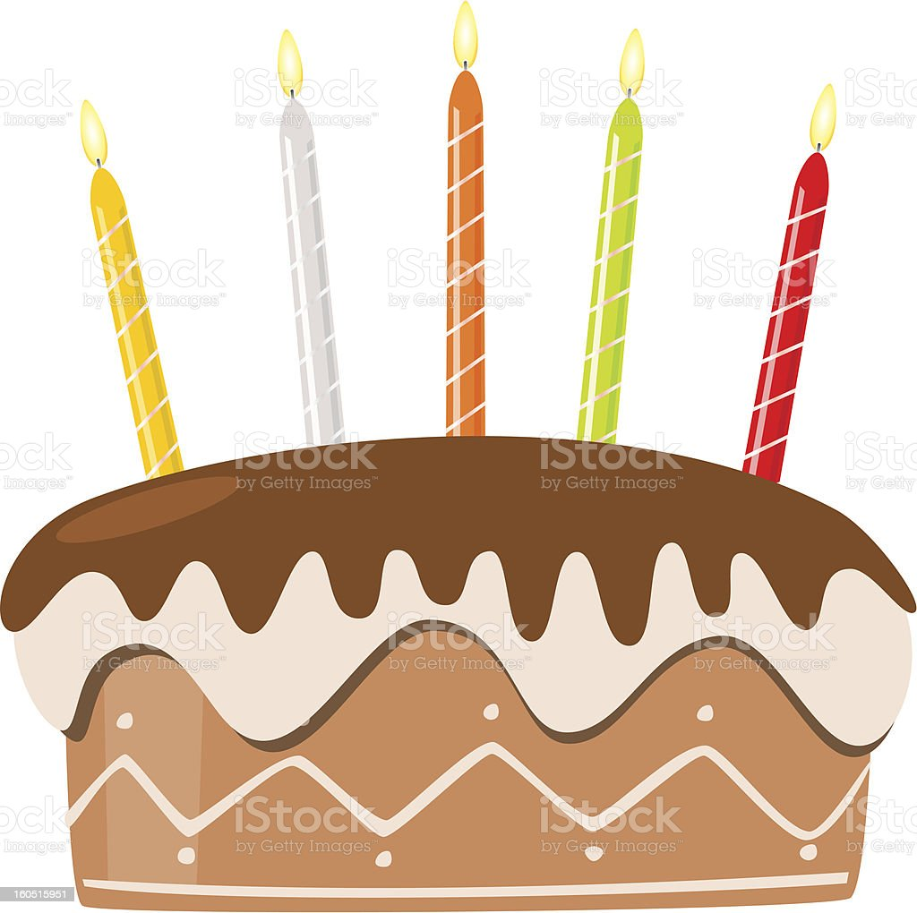 Vector birthday cake with burning candles royalty-free vector birthday cake with burning candles stock vector art & more images of anniversary