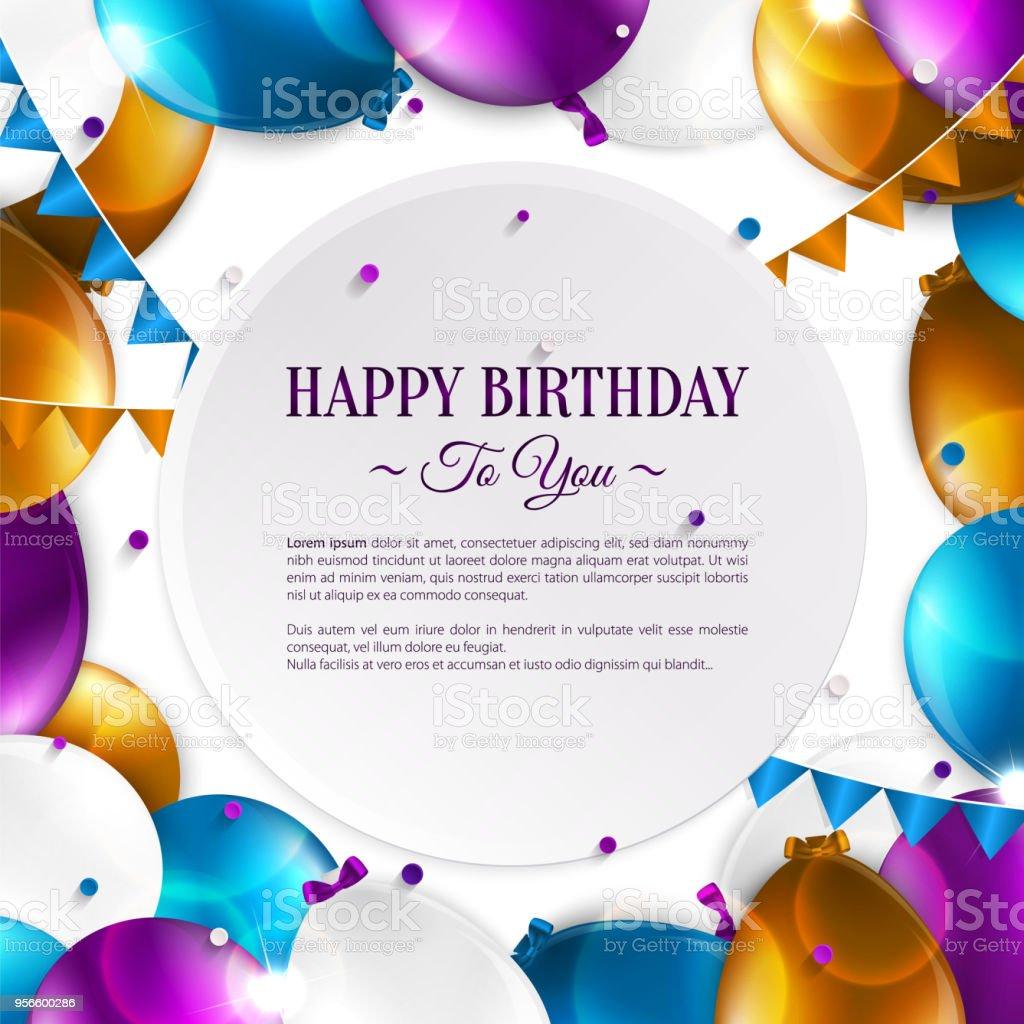 Geburtstagskarte mit text