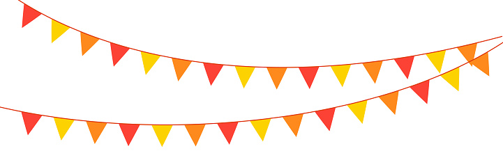 Vector birthday, party and holiday decoration elements flags. EPS10.