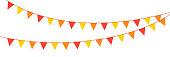 istock Vector birthday, party and holiday decoration elements flags. EPS10 1311902840