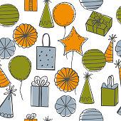 istock Vector birthday  pattern. 1199388552