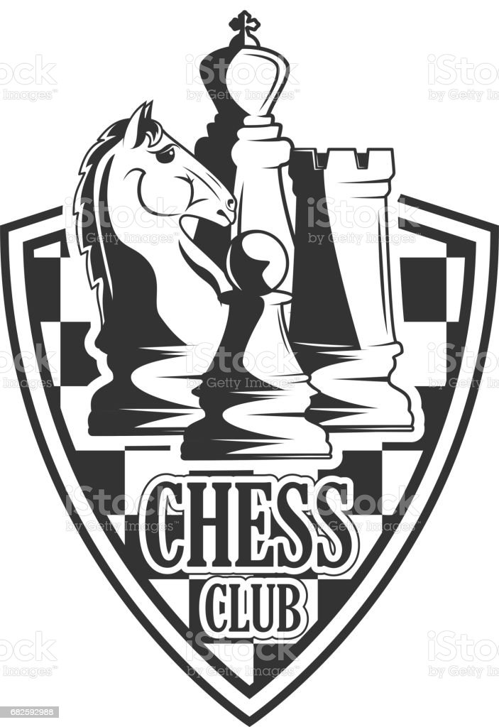 Vector Black And White Chess Club Logo For Your Design ...