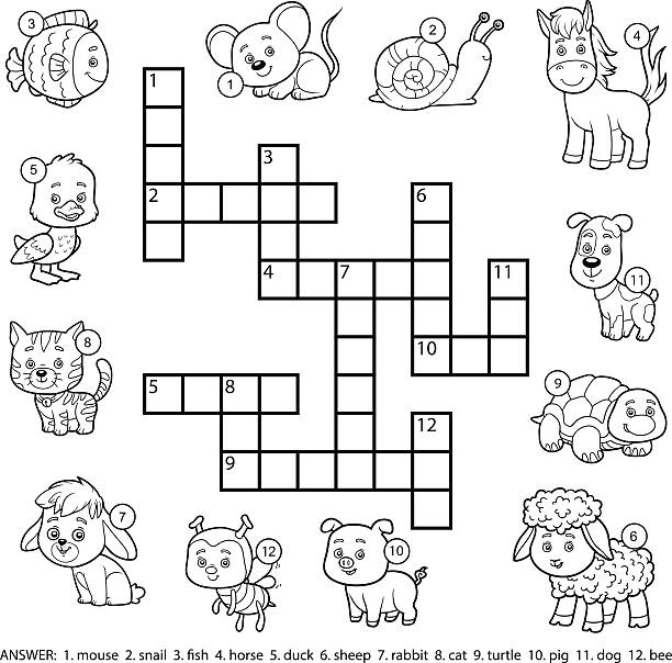 Best Crossword Puzzle Illustrations, Royalty-Free Vector