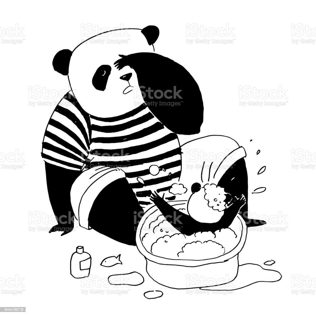 Boyama Kitabı Için Siyah Ve Beyaz Vektör çizim Siyah Ve Beyaz Tişört