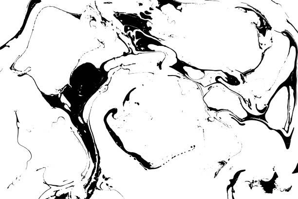 Vector black and white marble background. vector art illustration