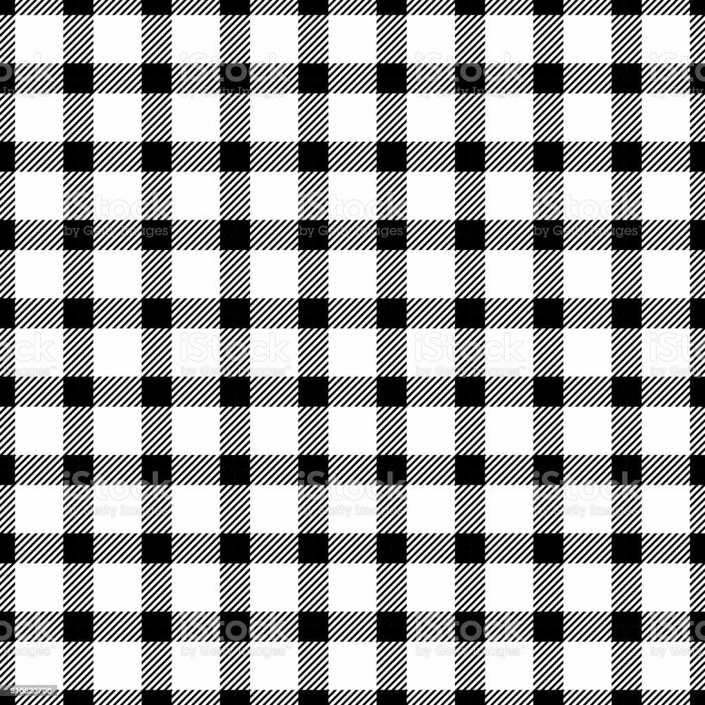 Ilustra O De Vetor Preto E Branco Sem Costura Monocrom Tico Xadrez
