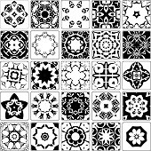 Vector Black And White Tile Collection
