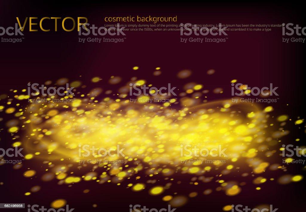 Vektor schwarzen Hintergrund mit goldenen funkelt Lizenzfreies vektor schwarzen hintergrund mit goldenen funkelt stock vektor art und mehr bilder von abstrakt