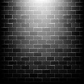 Vector black brick wall