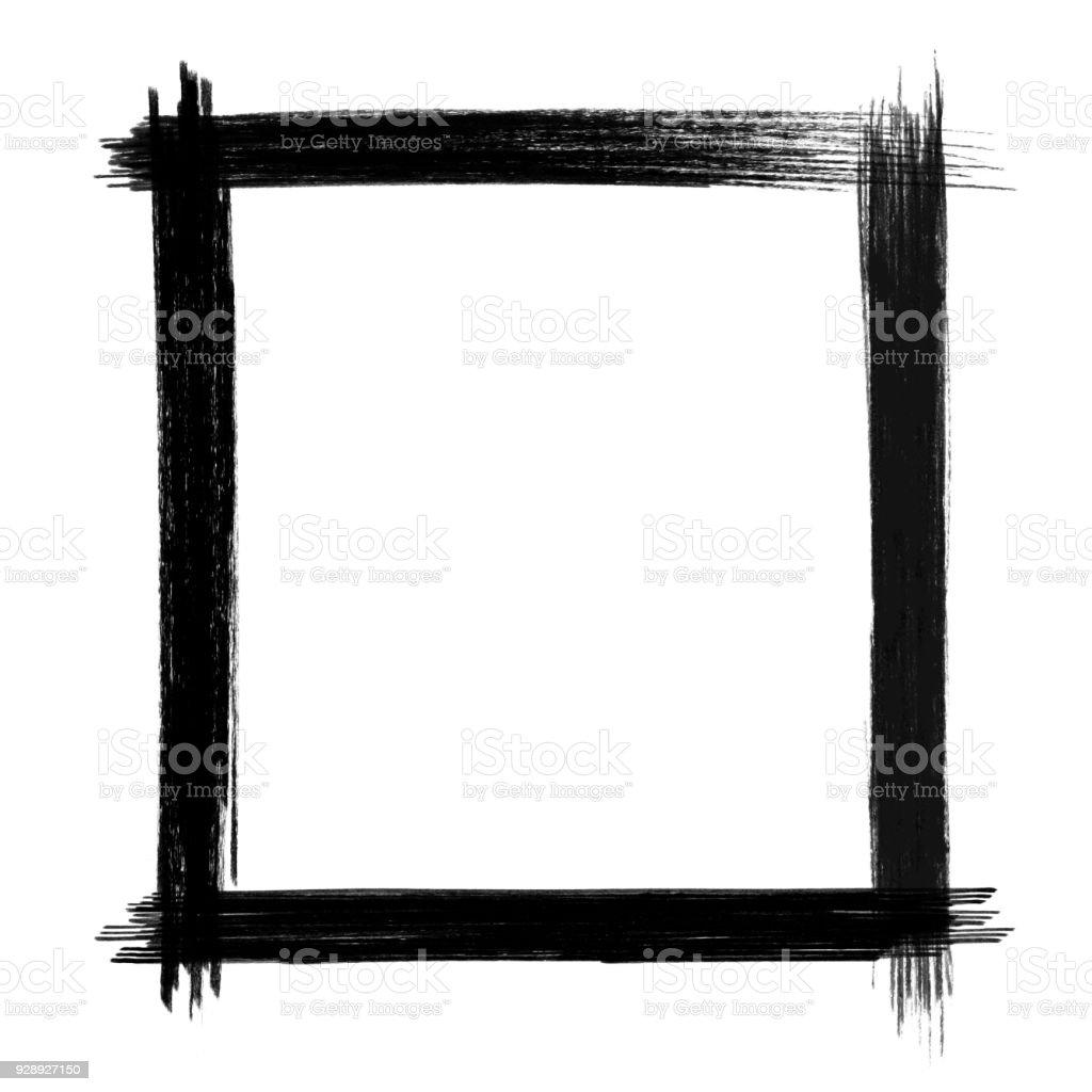 Vektor Schwarzen Pinsel Strich Rahmen Isoliert Stock Vektor Art und ...