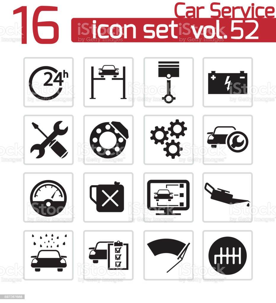 Vector noir voiture service icônes set vector noir voiture service icônes set – cliparts vectoriels et plus d'images de affaires finance et industrie libre de droits