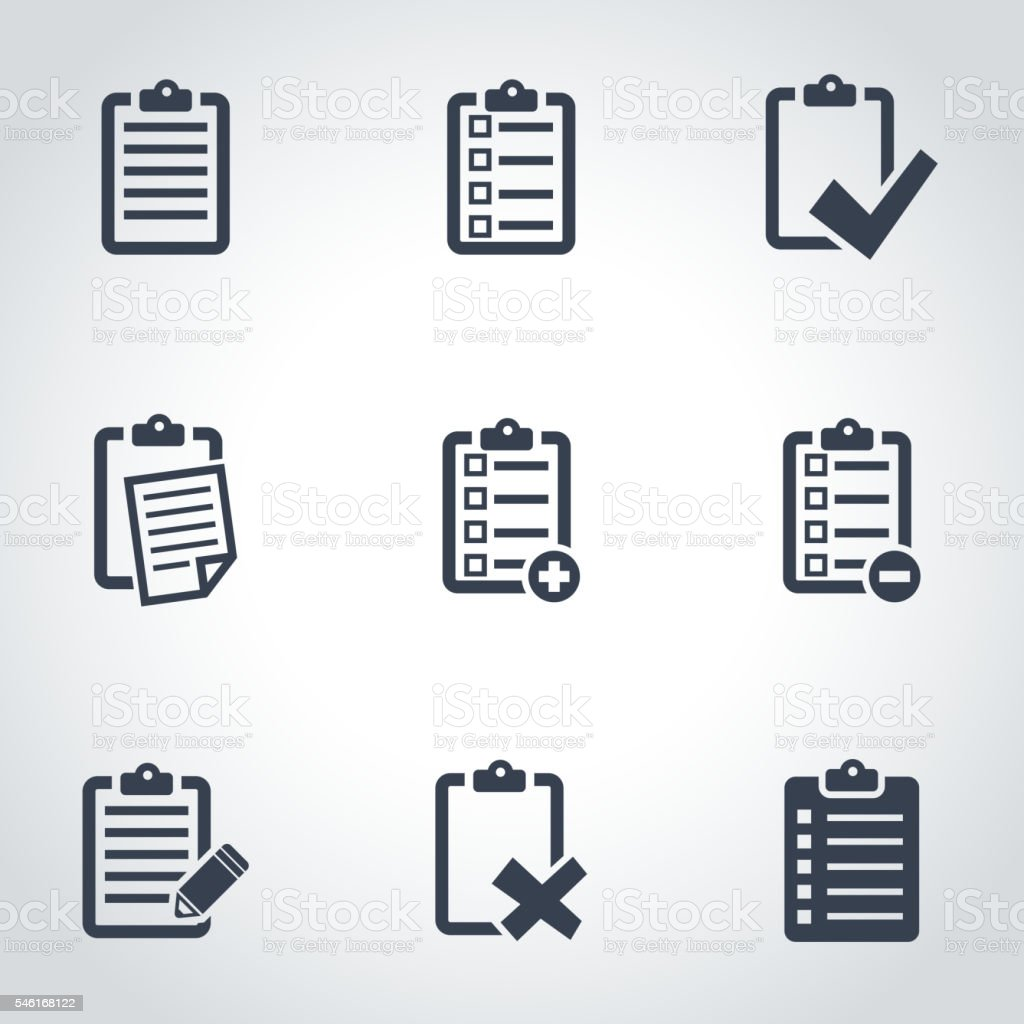 Vector black check list icon set royalty-free stock vector art
