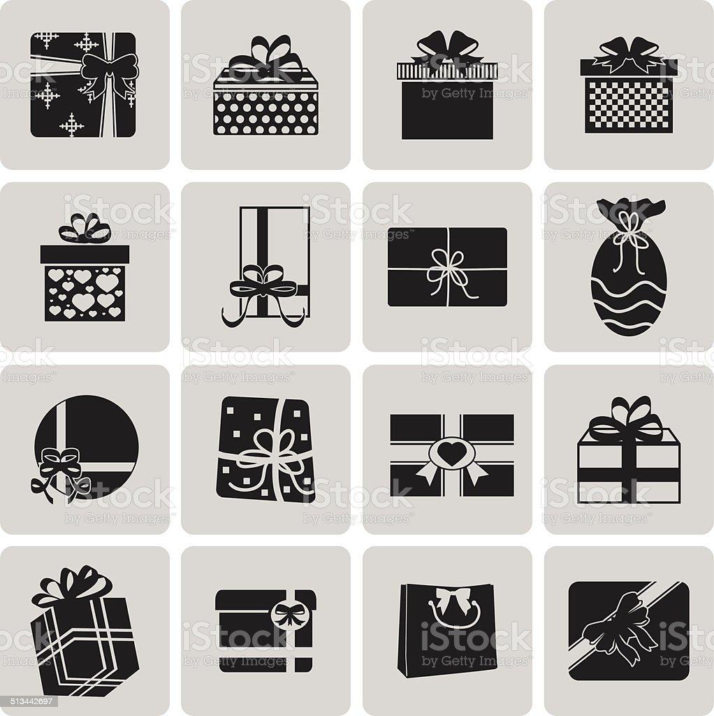 Vektor Schwarze Weihnachts-Symbol set2.  Vektor-Illustration eps10 – Vektorgrafik