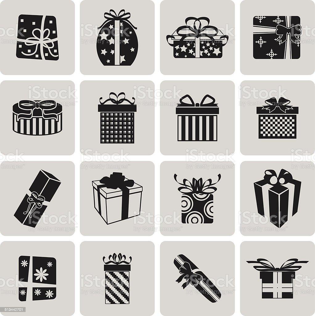 Vektor Schwarze Weihnachtssymbol Set3 Zu Wechseln Vektorillustration ...