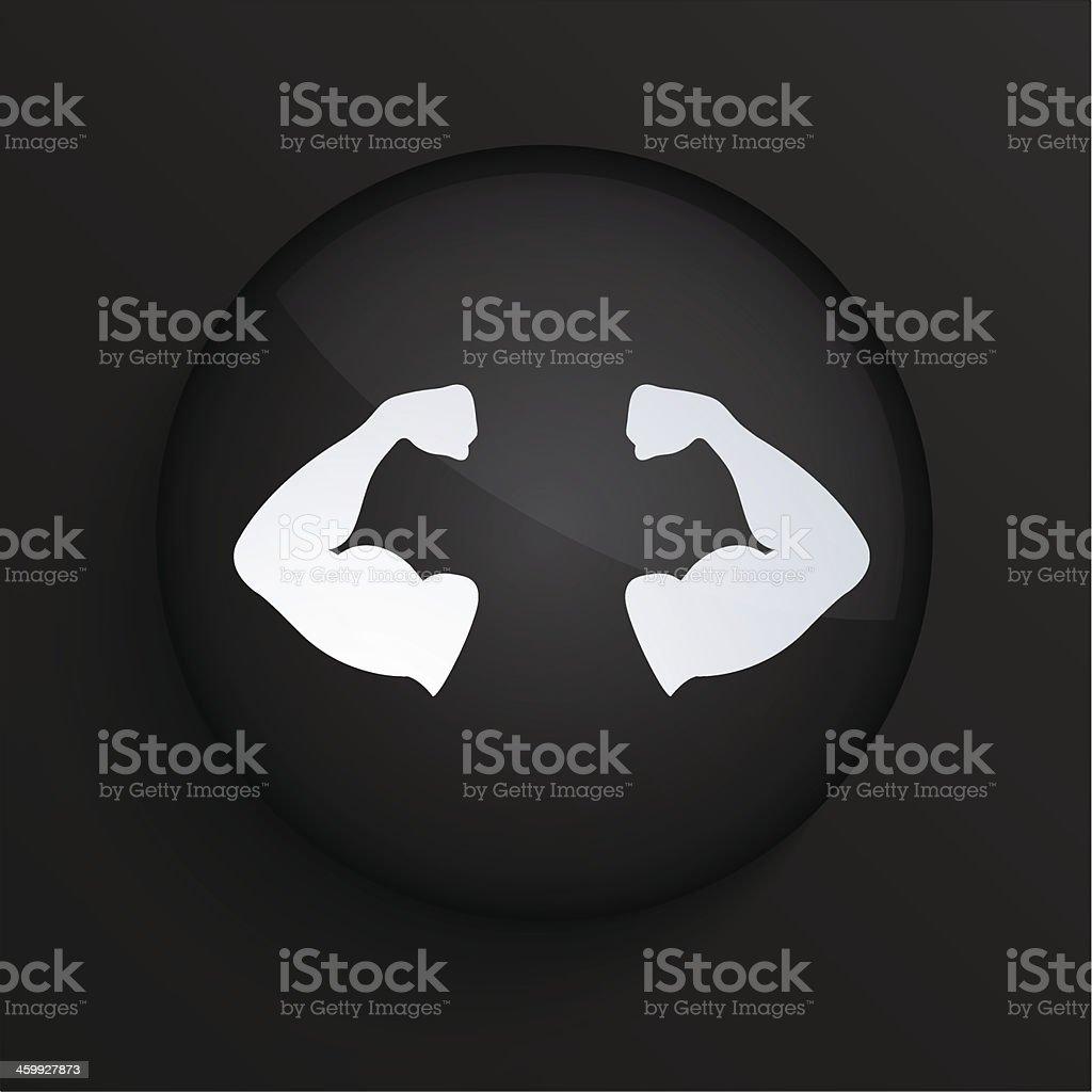 Vector black circle icon. Eps10 vector art illustration