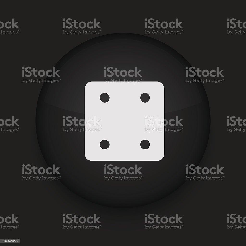 Vector black circle icon. Eps10 royalty-free stock vector art