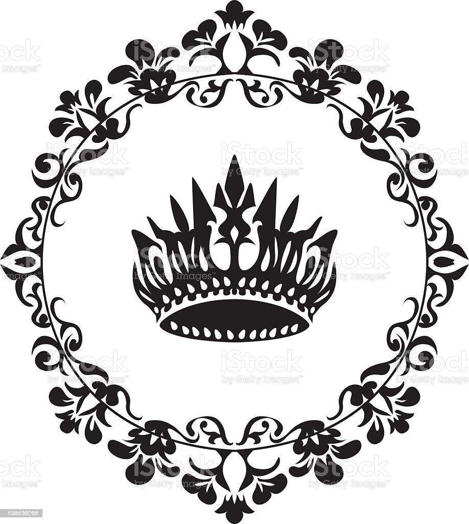 Vector black crown icon isolated on white vector black crown icon isolated on white – cliparts vectoriels et plus d'images de armoiries libre de droits