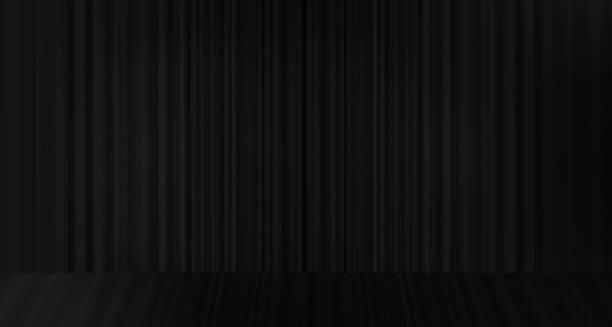 vektor schwarzen vorhang mit hintergrund bühne, modernen stil. - plüschmuster stock-grafiken, -clipart, -cartoons und -symbole