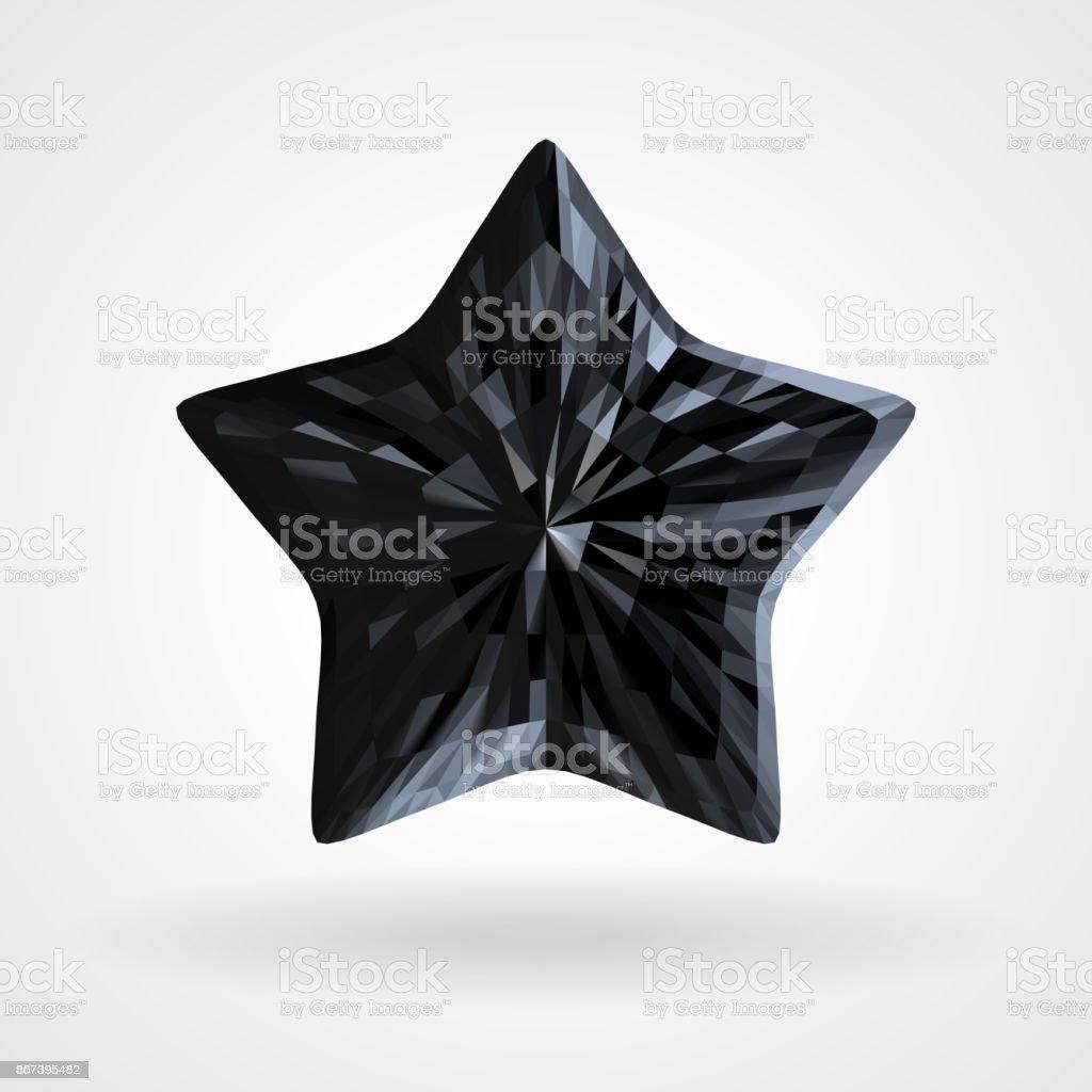 Vektorblack Diamond Fünfzackigen Stern Im Dreieckigen Design Stock ...