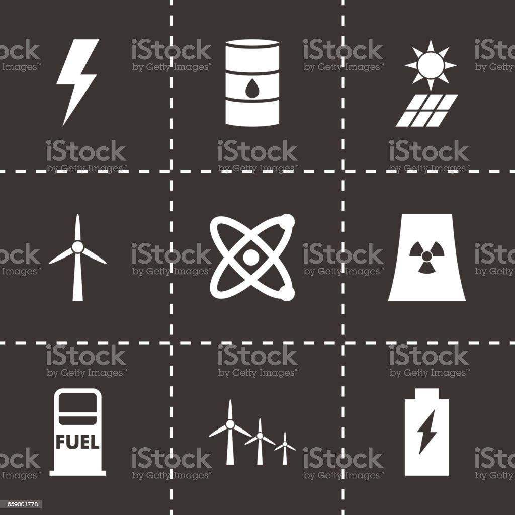 Vector black energetics icon set royalty-free vector black energetics icon set stock vector art & more images of belarus