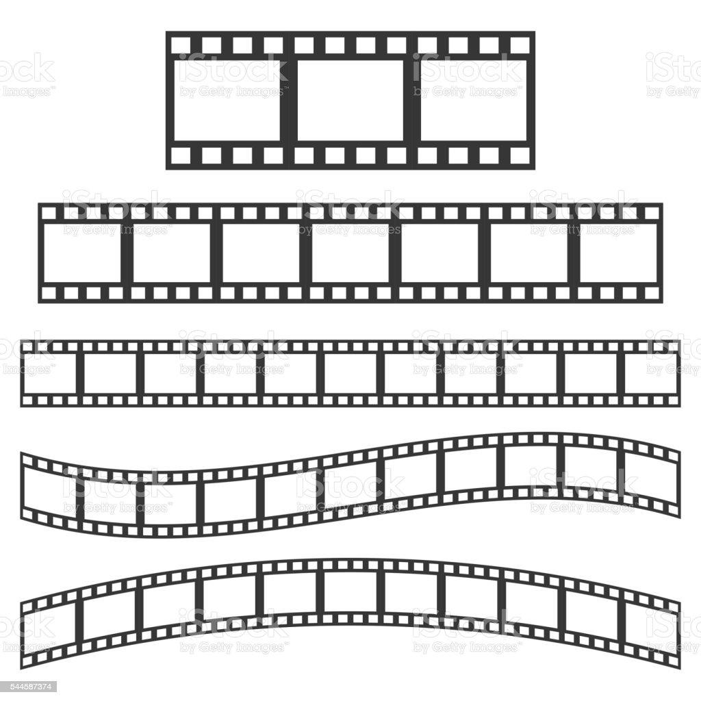 Vector black film frame vector art illustration