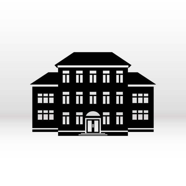 Royalty Free Elementary School Building Clip Art, Vector ...