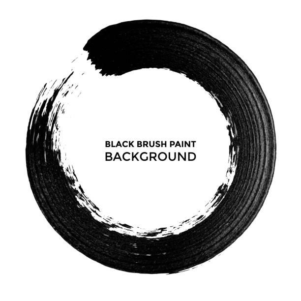 Vektor schwarze Tinte Kreis Pinselstrich. – Vektorgrafik