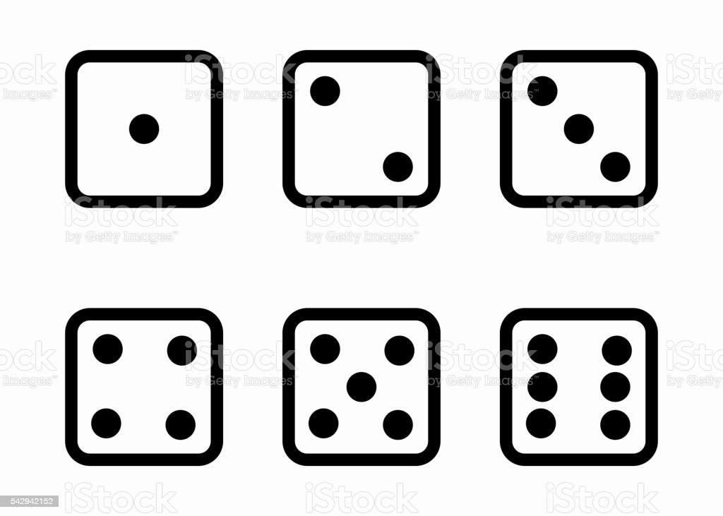 royalty free row of dice clip art vector images illustrations rh istockphoto com clip art dice numbers clipart december 2017