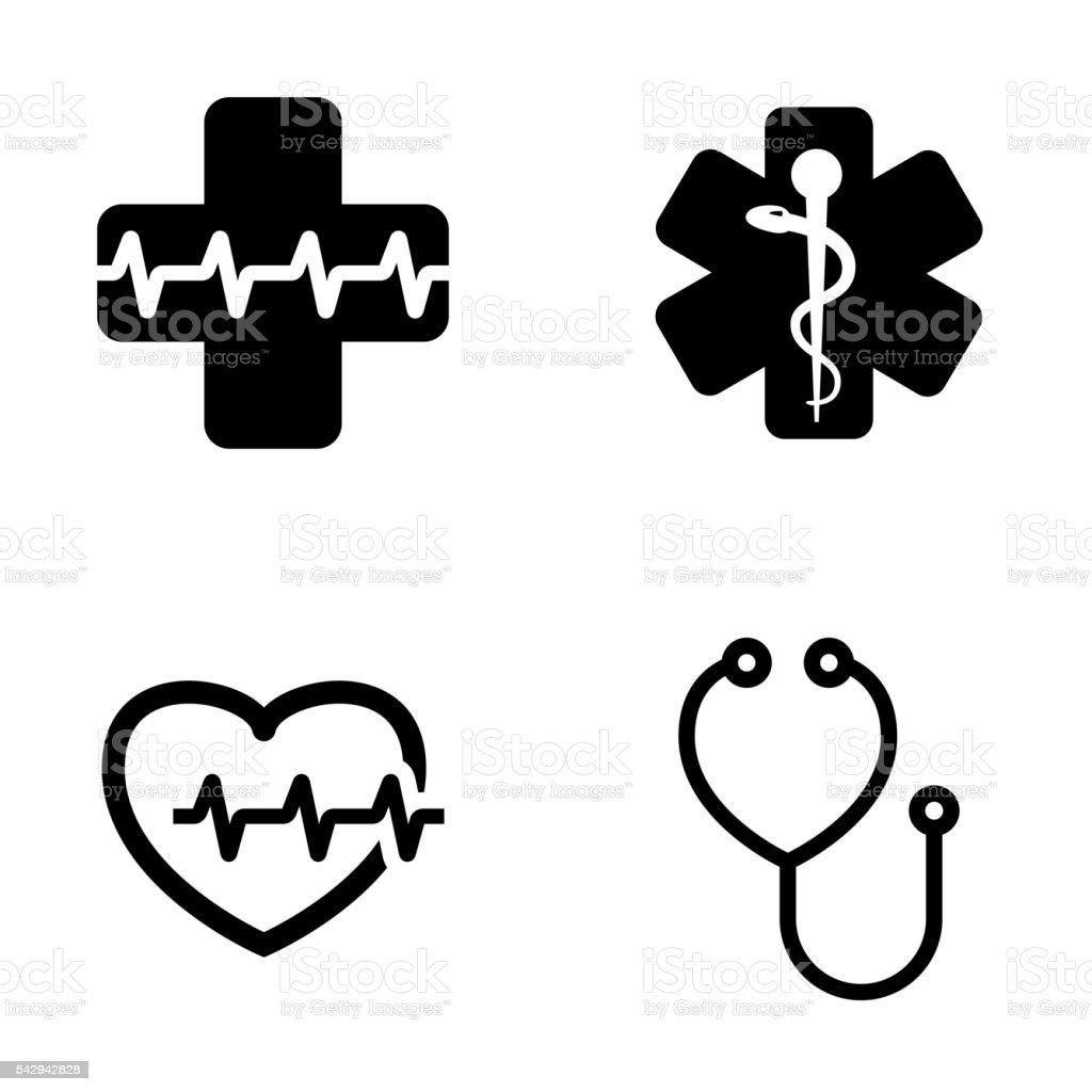 vector black medical symbol icons set stock vector art