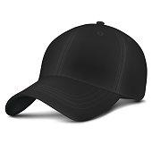 Vector Black Mock-up City Cap