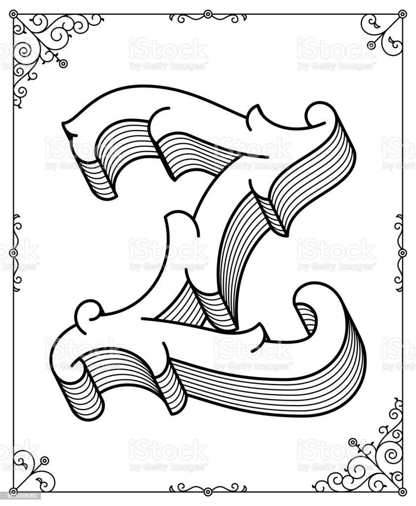 Vector black on white letter Z vector black on white letter z - stockowe grafiki wektorowe i więcej obrazów abstrakcja royalty-free
