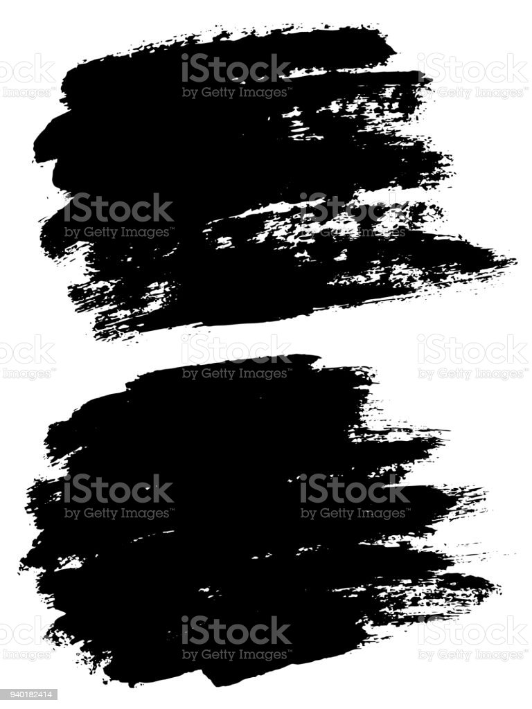 Vector Black Paint Ink Brush Stroke Brush Line Or Texture Dirty