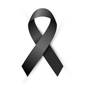 Vector black ribbon