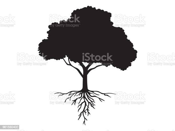 Vector black shape silhouette of a tree with roots vector id961560402?b=1&k=6&m=961560402&s=612x612&h=kvazp2eywvmh6iy6usnwam9fzd zionqwss7ce47jpo=