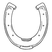 Vector Hand Drawn Sketch Horseshoe Illustration