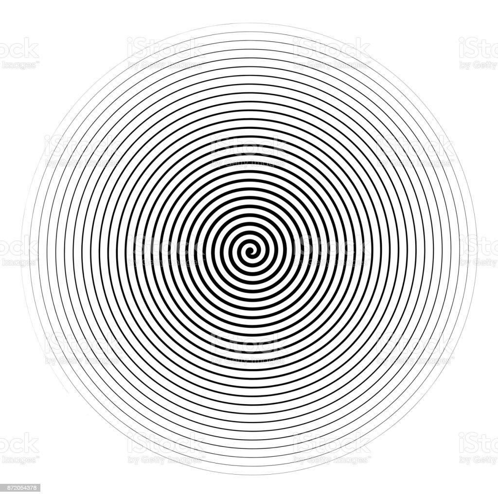 Vector black spiral isolated on white background. vector art illustration